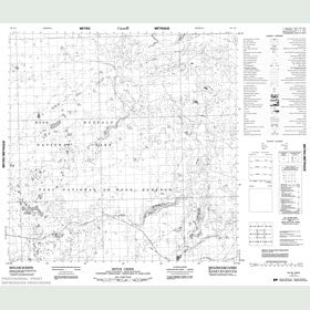 Canadian Topo Map - Seton Creek - Map 085A02