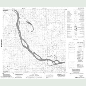 Canadian Topo Map - Landry Creek - Map 085A10