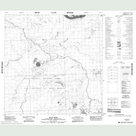 Canadian Topo Map - Bear Creek - Map 085A11