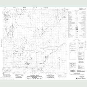 Canadian Topo Map - Bad Water Creek - Map 085A12