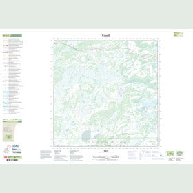 Canadian Topo Map - Birch - Map 085B11