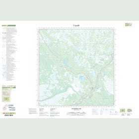 Canadian Topo Map - Escarpment Lake - Map 085C09