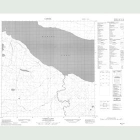 Canadian Topo Map - Kakisa Lake - Map 085C13