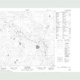 Canadian Topo Map - Heart Lake - Map 085C15