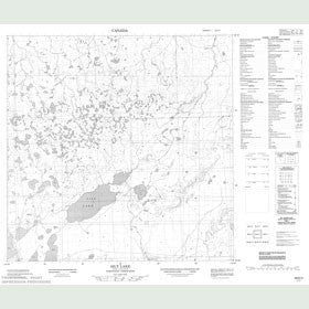 Canadian Topo Map - Silt Lake - Map 085D02