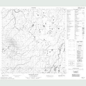 Canadian Topo Map - Redknife Hills - Map 085D12