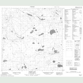 Canadian Topo Map - Rabbit Lake - Map 085D15