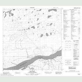 Canadian Topo Map - Axe Point - Map 085E07
