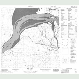 Canadian Topo Map - Mills Lake - Map 085E08