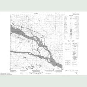 Canadian Topo Map - Meridian Island - Map 085F05