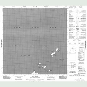 Canadian Topo Map - Pine Point - Map 085G01