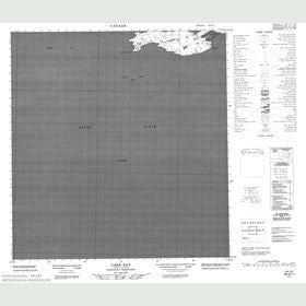 Canadian Topo Map - Cake Bay - Map 085G11