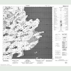 Canadian Topo Map - Ives Bay - Map 085G15