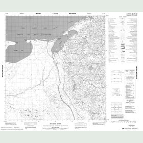 Canadian Topo Map - Rocher River - Map 085H07