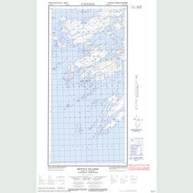 Canadian Topo Map - Petitot Islands - Map 085H10W