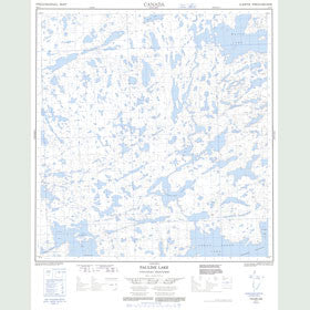 Canadian Topo Map - Pauline Lake - Map 085I03