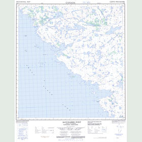 Canadian Topo Map - Matonabbee Point - Map 085I04