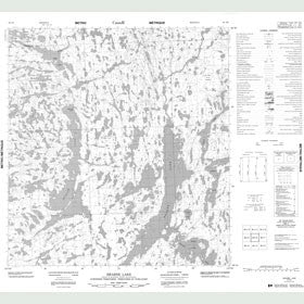 Canadian Topo Map - Hearne Lake - Map 085I06