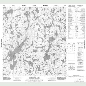 Canadian Topo Map - Desperation Lake - Map 085I09