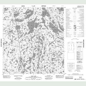 Canadian Topo Map - Ross Lake - Map 085I11