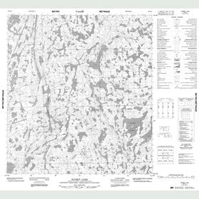 Canadian Topo Map - Sunset Lake - Map 085I16