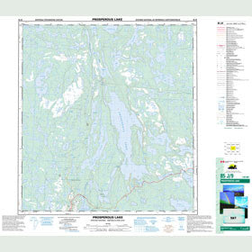 Canadian Topo Map - Prosperous Lake - Map 085J09