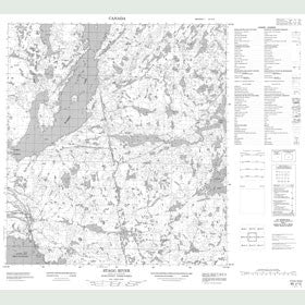Canadian Topo Map - Stagg River - Map 085J13