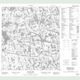 Canadian Topo Map - Stagg Lake - Map 085J14