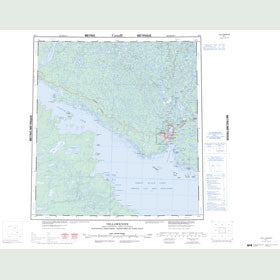 Canadian Topo Map - Yellowknife - Map 085J