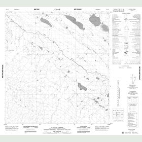 Canadian Topo Map - Plateau Creek - Map 085L08