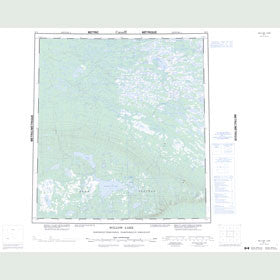Canadian Topo Map - Willow Lake - Map 085L