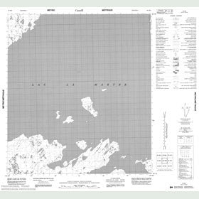 Canadian Topo Map - Map 085M08
