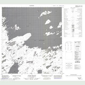 Canadian Topo Map - Golby Island - Map 085N04