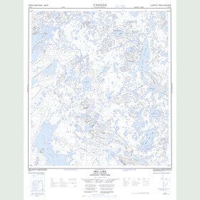 Canadian Topo Map - Bea Lake - Map 085N10