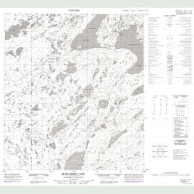 Canadian Topo Map - McQuarrie Lake - Map 085N11