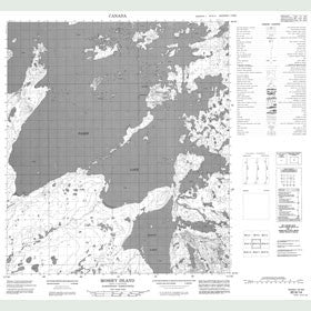 Canadian Topo Map - Mossey Island - Map 085N14