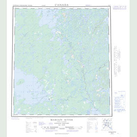Canadian Topo Map - Marian River - Map 085N