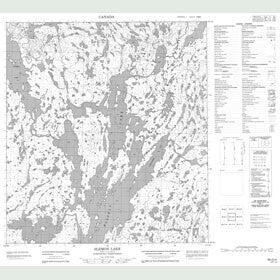Canadian Topo Map - Slemon Lake - Map 085O04
