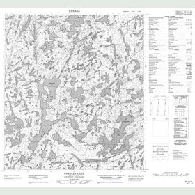 Canadian Topo Map - Wheeler Lake - Map 085O07