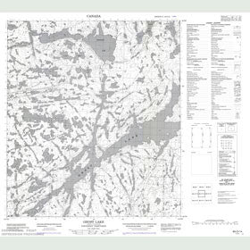 Canadian Topo Map - Ghost Lake - Map 085O14