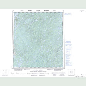 Canadian Topo Map - Wecho River - Map 085O