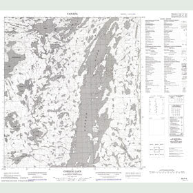 Canadian Topo Map - Gordon Lake - Map 085P03