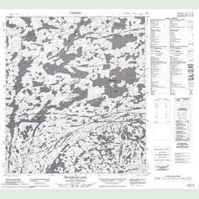 Canadian Topo Map - Frodsham Lake - Map 085P12