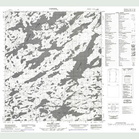 Canadian Topo Map - Wecho Lake - Map 085P13