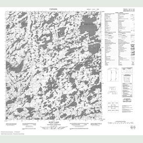 Canadian Topo Map - Rupp Lake - Map 085P16