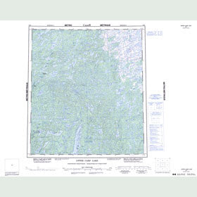Canadian Topo Map - Upper Carp Lake - Map 085P