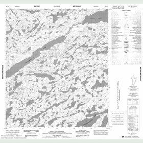 Canadian Topo Map - Fort Enterprise - Map 086A06