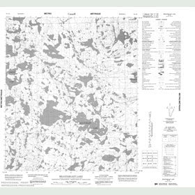 Canadian Topo Map - Beauparlant Lake - Map 086A09