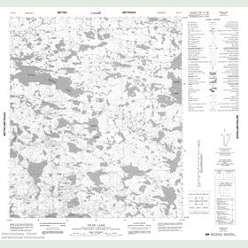 Canadian Topo Map - Shaw Lake - Map 086A10