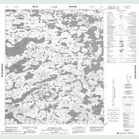 Canadian Topo Map - Angelique Lake - Map 086A11